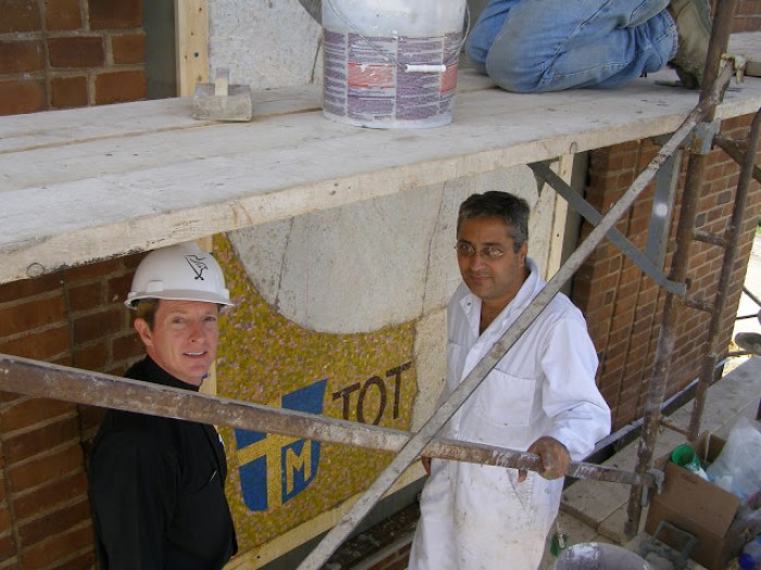 Mater Ecclesiae, the installation of the mosaic in Sewickley,PA