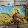 Italian mosaic artist Enzo Aiello on his latest creation for St. Peter's Catholic Church