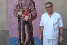 Saint Francis of Assisi Mosaic at Our Lady Queen of Angels ,Newport Beach, California